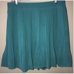 Candies Teal Chiffon Lined Skirt